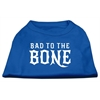 Mirage Pet Products Bad to the Bone Dog Shirt Blue Lg (14)
