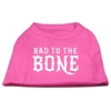 Mirage Pet Products Bad to the Bone Dog Shirt Bright Pink XS (8)