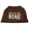 Mirage Pet Products Bad to the Bone Dog Shirt Brown Lg (14)