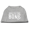 Mirage Pet Products Bad to the Bone Dog Shirt Grey Med (12)