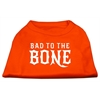 Mirage Pet Products Bad to the Bone Dog Shirt Orange Lg (14)
