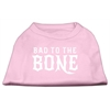 Mirage Pet Products Bad to the Bone Dog Shirt Light Pink Med (12)