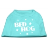 Mirage Pet Products Bed Hog Screen Printed Shirt  Aqua Sm (10)