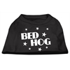 Mirage Pet Products Bed Hog Screen Printed Shirt  Black  XS (8)