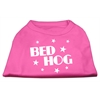 Mirage Pet Products Bed Hog Screen Printed Shirt  Bright Pink XL (16)