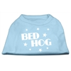 Mirage Pet Products Bed Hog Screen Printed Shirt  Baby Blue Med (12)