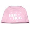 Mirage Pet Products Bed Hog Screen Printed Shirt  Light Pink XL (16)