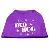 Mirage Pet Products Bed Hog Screen Printed Shirt  Purple Med (12)