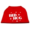 Mirage Pet Products Bed Hog Screen Printed Shirt  Red XS (8)