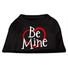 Mirage Pet Products Be Mine Screen Print Shirt Black  XS (8)