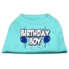 Mirage Pet Products Birthday Boy Screen Print Shirts Aqua XS (8)