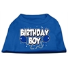 Mirage Pet Products Birthday Boy Screen Print Shirts Blue XS (8)