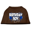 Mirage Pet Products Birthday Boy Screen Print Shirts Brown XS (8)