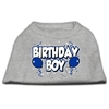 Mirage Pet Products Birthday Boy Screen Print Shirts Grey XS (8)