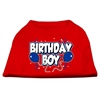 Mirage Pet Products Birthday Boy Screen Print Shirts Red XL (16)