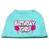 Mirage Pet Products Birthday Girl Screen Print Shirts Aqua XXL (18)