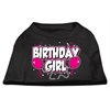 Mirage Pet Products Birthday Girl Screen Print Shirts Black  XS (8)