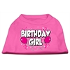 Mirage Pet Products Birthday Girl Screen Print Shirts Bright Pink XL (16)