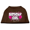 Mirage Pet Products Birthday Girl Screen Print Shirts Brown XXL (18)