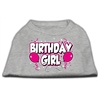 Mirage Pet Products Birthday Girl Screen Print Shirts Grey XXL (18)