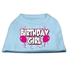 Mirage Pet Products Birthday Girl Screen Print Shirts Baby Blue XS (8)