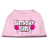 Mirage Pet Products Birthday Girl Screen Print Shirts Light Pink XXL (18)