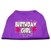Mirage Pet Products Birthday Girl Screen Print Shirts Purple XL (16)