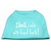 Mirage Pet Products Black Cats are Bad Luck Screen Print Shirt Aqua M (12)