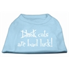 Mirage Pet Products Black Cats are Bad Luck Screen Print Shirt Baby Blue XS (8)