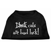 Mirage Pet Products Black Cats are Bad Luck Screen Print Shirt Black XXXL(20)