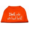 Mirage Pet Products Black Cats are Bad Luck Screen Print Shirt Orange Lg (14)