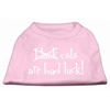 Mirage Pet Products Black Cats are Bad Luck Screen Print Shirt Light Pink XS (8)