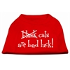 Mirage Pet Products Black Cats are Bad Luck Screen Print Shirt Red XXXL(20)