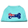 Mirage Pet Products Bone Shaped Australian Flag Screen Print Shirts Aqua XXXL(20)