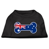 Mirage Pet Products Bone Shaped Australian Flag Screen Print Shirts Black XS (8)
