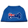 Mirage Pet Products Bone Shaped Australian Flag Screen Print Shirts Blue XS (8)