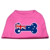 Mirage Pet Products Bone Shaped Australian Flag Screen Print Shirts Bright Pink XS (8)
