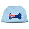 Mirage Pet Products Bone Shaped Australian Flag Screen Print Shirts Baby Blue XS (8)