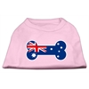 Mirage Pet Products Bone Shaped Australian Flag Screen Print Shirts Light Pink XXXL(20)