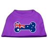 Mirage Pet Products Bone Shaped Australian Flag Screen Print Shirts Purple XXXL(20)