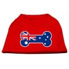 Mirage Pet Products Bone Shaped Australian Flag Screen Print Shirts Red XXXL(20)