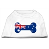 Mirage Pet Products Bone Shaped Australian Flag Screen Print Shirts White XXXL(20)