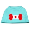 Mirage Pet Products Bone Shaped Canadian Flag Screen Print Shirts Aqua S (10)