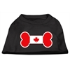 Mirage Pet Products Bone Shaped Canadian Flag Screen Print Shirts Black S (10)