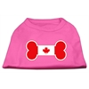 Mirage Pet Products Bone Shaped Canadian Flag Screen Print Shirts Bright Pink XS (8)