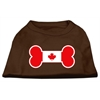Mirage Pet Products Bone Shaped Canadian Flag Screen Print Shirts Brown XS (8)