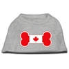 Mirage Pet Products Bone Shaped Canadian Flag Screen Print Shirts Grey XS (8)