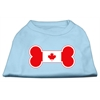 Mirage Pet Products Bone Shaped Canadian Flag Screen Print Shirts Baby Blue XS (8)
