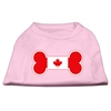 Mirage Pet Products Bone Shaped Canadian Flag Screen Print Shirts Light Pink XXL (18)