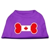 Mirage Pet Products Bone Shaped Canadian Flag Screen Print Shirts Purple XS (8)